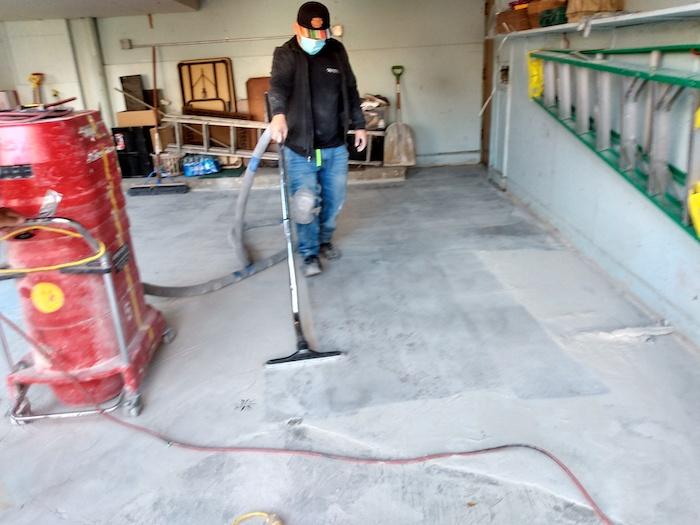 Repaired Garage Floors