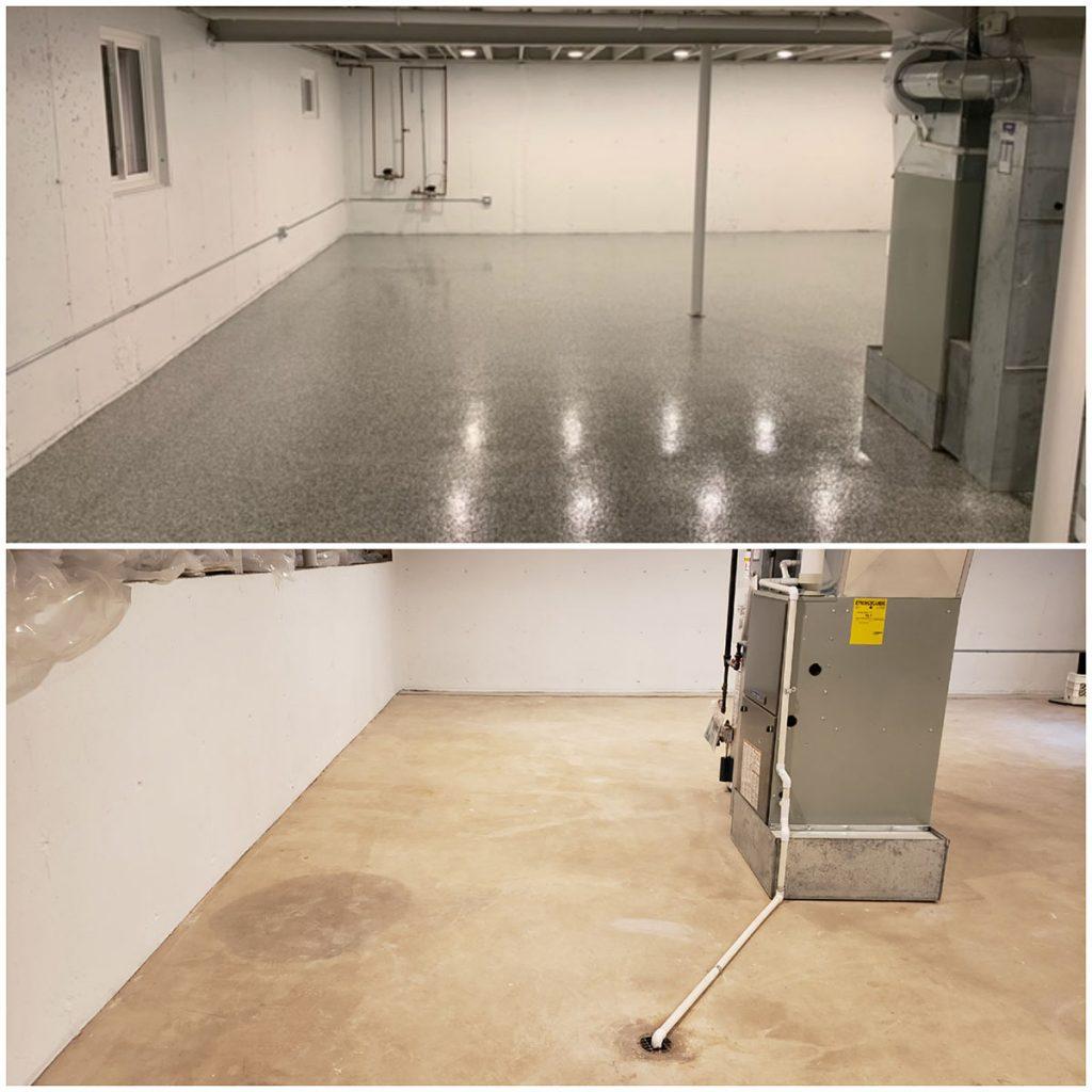 Basement Epoxy Floor 2
