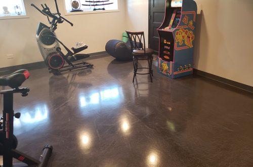 New Epoxy Basement Flooring